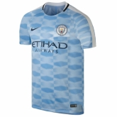 17-18 Manchester City Blue Pre-MatchTraining Shirt