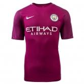 17-18 Manchester City Away purple Soccer Jersey Shirt