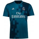 17-18 Real Madrid Third Away Blue Soccer Jersey Shirt