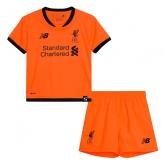 17-18 Liverpool Third Away Orange Children's Jersey Kit(Shirt+Short)