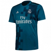 17-18 Real Madrid Third Away Blue Soccer Jersey Shirt(Player Version)