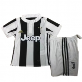 17-18 Juventus Home Children's Jersey Kit(Shirt+Short)