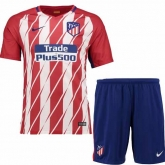 17-18 Atletico Madrid Home Soccer Jersey Kit(Shirt+Short)