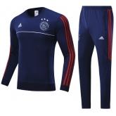 17-18 Ajax Navy Training Kit(Round neck Shirt+Trouser)