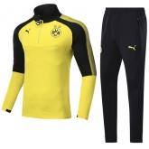 17-18 Borussia Dortmund Yellow Training Kit(Zipper Shirt+Trouser)