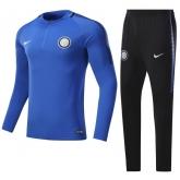 17-18 Inter Milan Blue Training Kit(Half Zipper Jacket+Trouser)