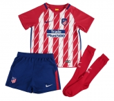 17-18 Atletico Madrid Home Children's Jersey Whole Kit(Shirt+Short+Socks)