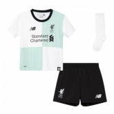 17-18 Liverpool Away White Children's Jersey Whole Kit(Shirt+Short+Socks)