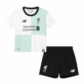 17-18 Liverpool Away White Children's Jersey Kit(Shirt+Short)