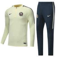 17-18 Club America Yellow Zipper Training Kit(Sweat+Trouser)