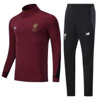 17-18 Liverpool Red Training Kit(Zipper shirt+Trouser)