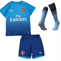 17-18 Arsenal Away Children's Jersey Kit(Shirt+Short+socks)