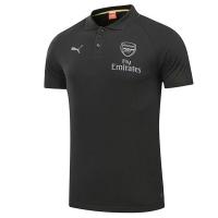 Arsenal Core Polo Shirt-Black