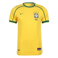 1998 Brazil Home Yellow Retro Jersey Shirt
