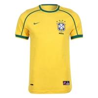 1998 Brazil Home Yellow Retro Jersey Shirt