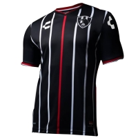 17-18 Club De Cuervos Away Black Jersey Shirt
