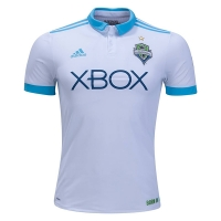 17-18 Seattle Sounders Away White Soccer Jersey Shirt(Player Version)