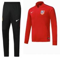 17-18 Atletico Madrid Red Training Kit( Jacket+Trouser)