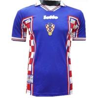 1998 Croatia Away Blue Retro Jersey Shirt