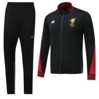 17-18 Liverpool Black Training Kit(Jacket+Trouser)