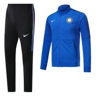 17-18 Inter Milan Blue Low Collar Training Kit(Jacket+Trouser)