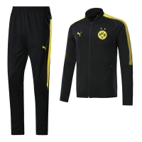 17-18 Borussia Dortmund Black Training Kit(Jacket+Trouser)