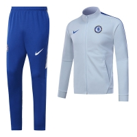 17-18 Chelsea White Training Kit(Jacket+Trouser)