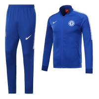 17-18 Chelsea Blue Low Collar Training Kit(Jacket+Trouser)