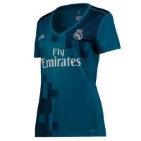17-18 Real Madrid Away Blue Women's Jersey Shirt