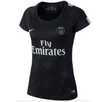 17-18 PSG Third Away Black Women's Soccer Jersey Shirt
