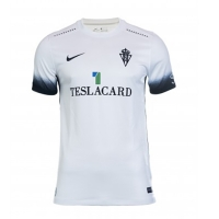 17-18 Sporting Gijón Away White Soccer Jersey Shirt