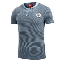 Manchester City stripes Grand Slam Polo Shirt-Blue