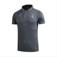 Real Madrid Core Polo Shirt-Gray