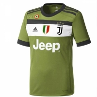 17-18 Juventus Third Away Green Soccer Jersey Shirt(Player Version)