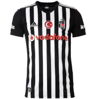 17-18 Besiktas JK Away Black&White Soccer Jersey Shirt