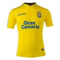 17-18 UD Las Palmas Home Yellow Soccer Jersey Shirt