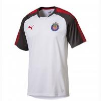 17-18 Deportivo Guadalajara White Training Jersey Shirt