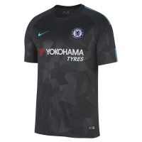 17-18 ChelseaThird Away Black Soccer Jersey Shirt