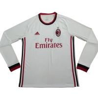 17-18 AC Milan Away White Long Sleeve Jersey Shirt