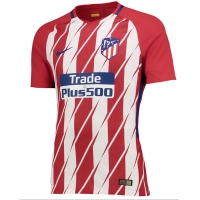 17-18 Atletico Madrid Home Soccer Jersey Shirt(Player Version)