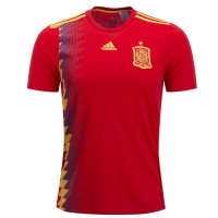 2018 Spain Home Red Soccer Jersey Shirt(Player Version)