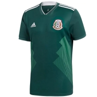 2018 World Cup Mexico Home Green Jersey Shirt(Player Version)