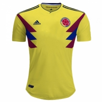 2018 World Cupv Colombia Home Yellow Soccer Jersey Shirt(Player Version)