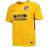 17-18 Atletico Madrid Away Yellow Soccer Jersey Shirt