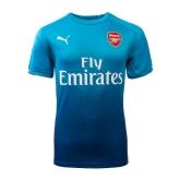 17-18 Arsenal Away Blue Soccer Jersey Shirt