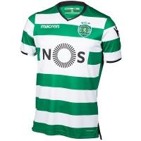 17-18 Sporting Lisbon Home Soccer Jersey Shirt