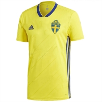 2018 World Cup Sweden Home Yellow Soccer Jersey Shirt