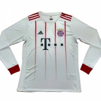 17-18 Bayern Munich Third Away White Long Sleeve Jersey Shirt