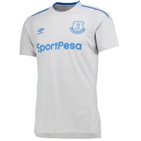 17-18 Everton Away White Soccer Jersey Shirt