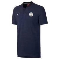 Manchester City stripes Grand Slam Polo Shirt-Navy